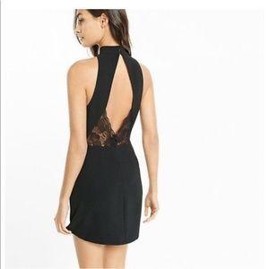 Express black a-line dress